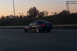 Friday FAIL: Jetta missing wheel driving 75 mph