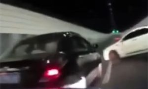 Friday FAIL Street Racing Tunnel Crash in China