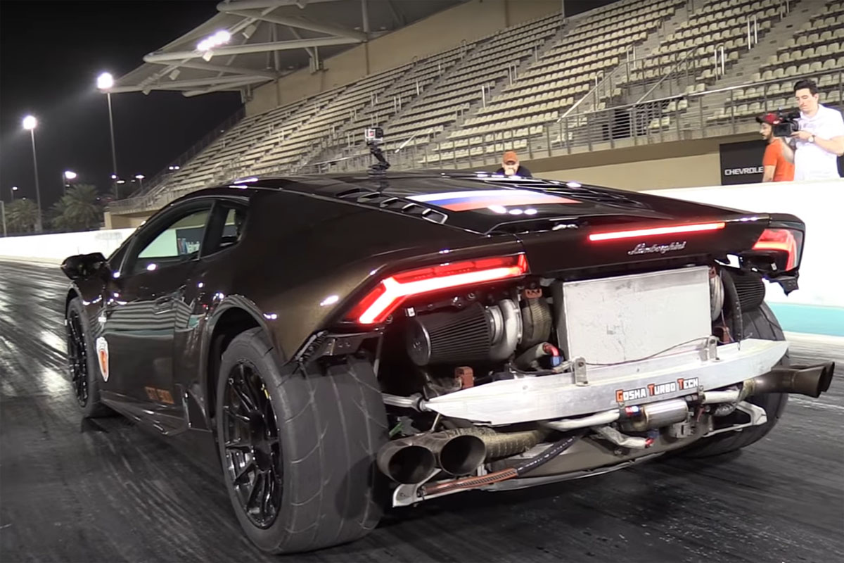 Twin Turbo Lamborghini Huracan Drag Strip