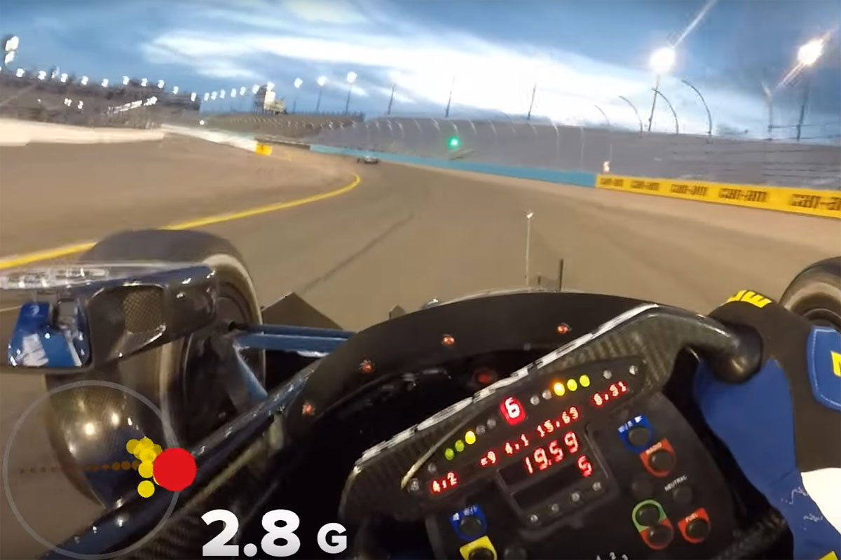 Witness The Crazy G Forces An Indycar Driver Experiences