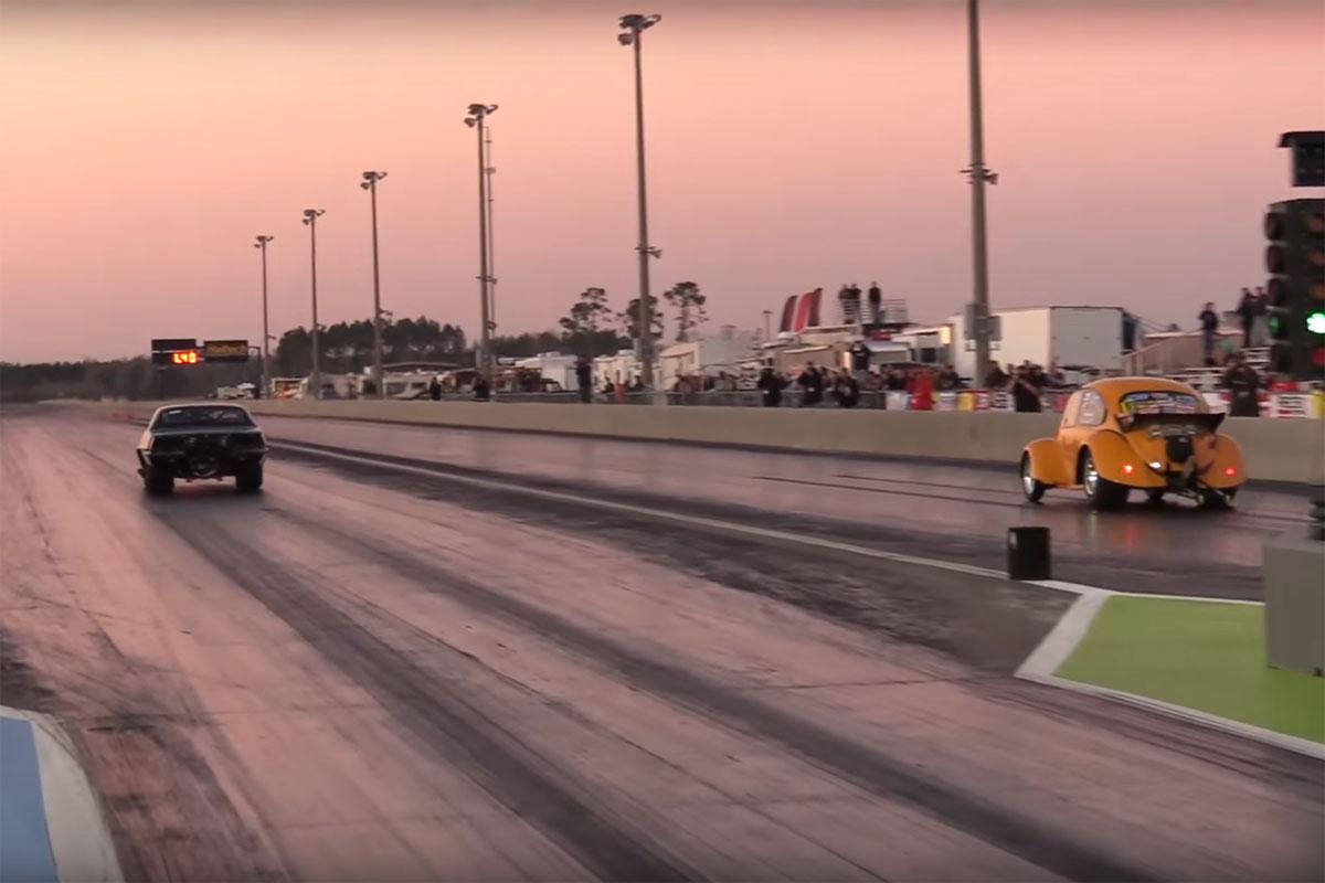 VW Bugzilla Drag Racing Crash
