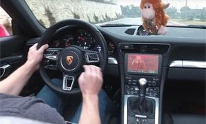 Playing DOOM in a Porsche 911 Carreara S