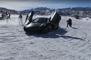 McLaren MP4-12C Snow Donuts