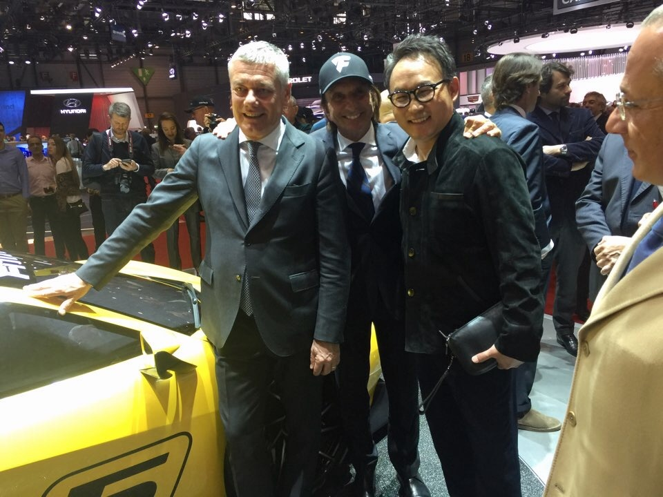 Paolo Pininfarina and Fittipaldi and Suny Chung