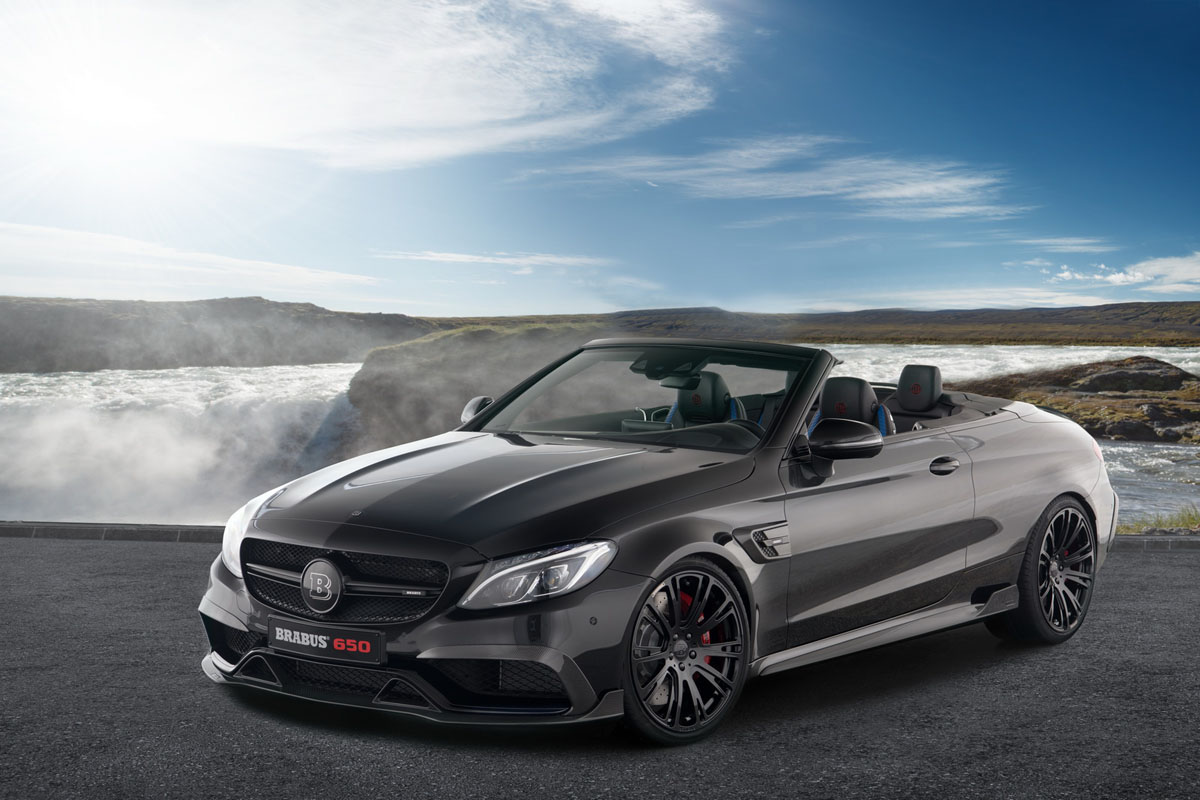 The brabus 650 cabrio is a 200 mph drop top amg monster for Mercedes benz drop top