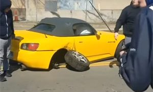 Honda S2000 Crash Leaving Car Meet