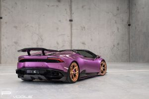 Lamborghini Huracan Spyder with PUR LX11.3 Wheels by Vogue Industries