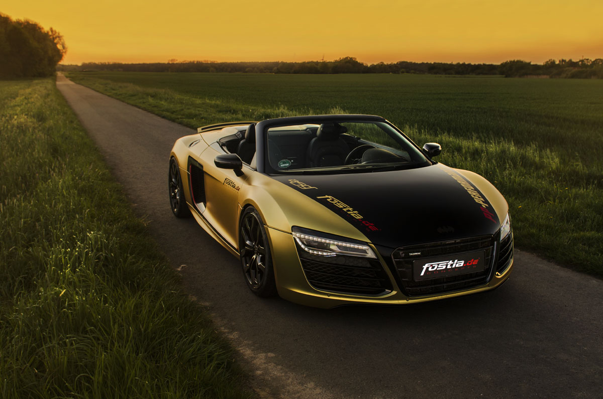 Fostla Goes For Gold With The Audi R8 Spyder