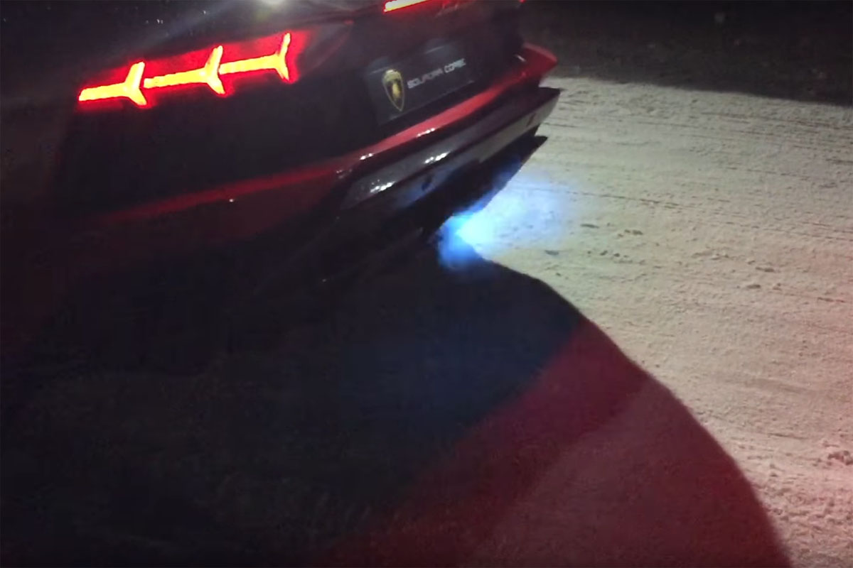 Lamborghini Aventador S Exhaust Flames