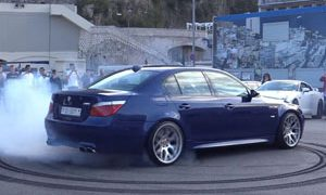 E60 BMW M5 Burnouts Monaco