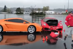 Friday FAIL Ferrari Crashes into Lamborghini