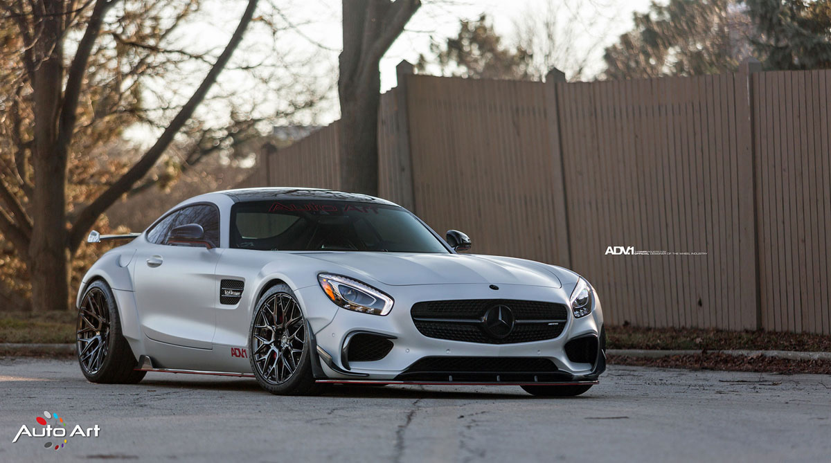 The Auto Art Mercedes-AMG GT S Project Ghost with ADV10.0 M.V2 CS Series Wheels