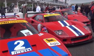 Ferrari F40s Goodwood Breakfast Club