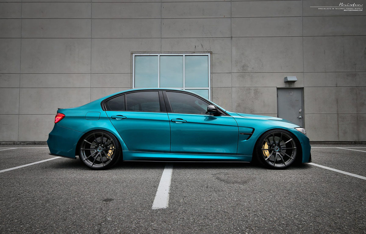 Atlantis Blue BMW M3 with Brixton Forged WR3 Ultrasport+ Wheels