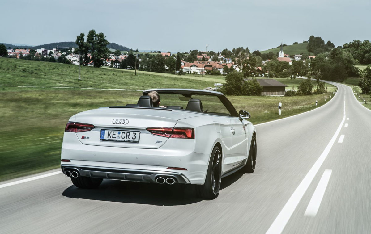 cruise through summer with the abt sportsline audi s5 cabrio. Black Bedroom Furniture Sets. Home Design Ideas