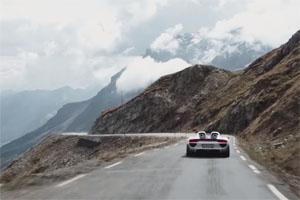 Porsche 918 Spyder Alpine Passes