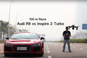 Audi R8 vs DJI Inspire 2 Turbo Drone