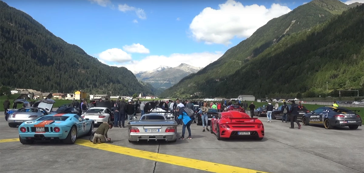 Supercar Drag Race in Alps