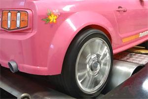 2013 Power Wheels Barbie Mustang Dyno