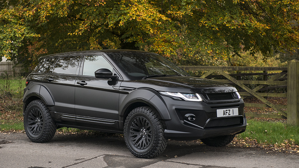 go rally with the kahn design range rover evoque x lander edition. Black Bedroom Furniture Sets. Home Design Ideas