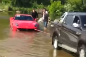 Friday FAIL: Ferrari F12Berlinetta in Water