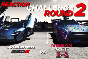McLaren 650S Spider vs Nissan GT-R Reaction Challenge